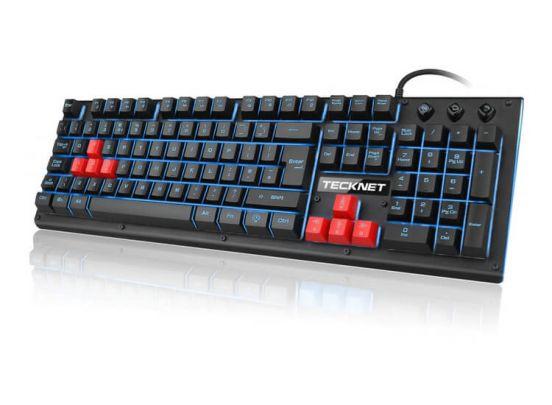 Tecknet Gaming Toetsenbord - Met LED Verlichting