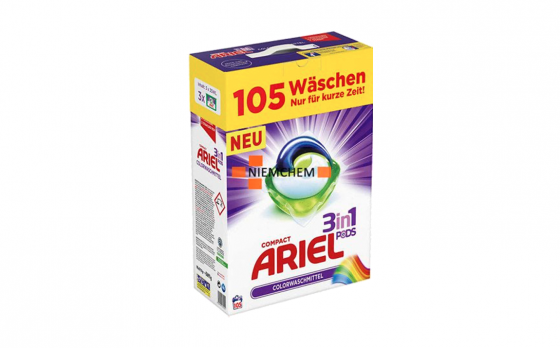 Ariel wasmiddel 3 in 1 pods color - 105 pods