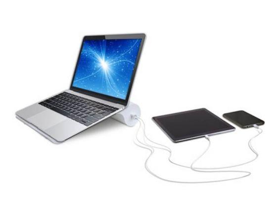 Soundlogic Laptop/Tablet houder met 2 USB poorten