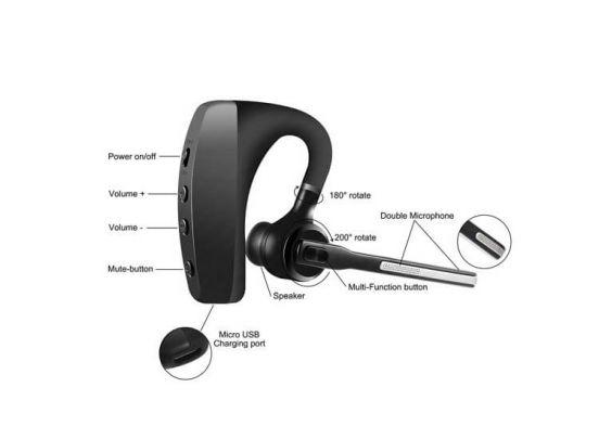 Fedec K10 Bluetooth Headset met Accu en Oplaadcase - Draadloze Headset
