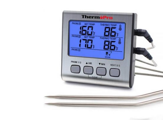 Thermo Pro TP17 Dubbele Vleesthermometer Digitaal