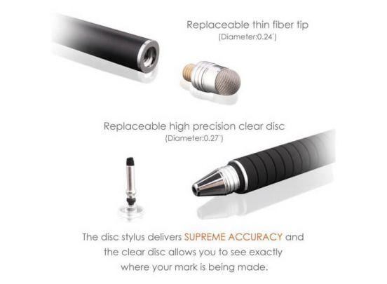 Precisiepen voor je tablet, mobiel, Ipad en e-reader - Extreem nauwkeurige stylus - Zilver