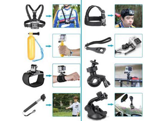 Action Camera Accessoireset - 12 in 1 - Geschikt voor alle Go Pro Camera's