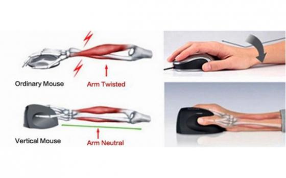 Draadloze verticale ergonomische Muis - rechtshandig