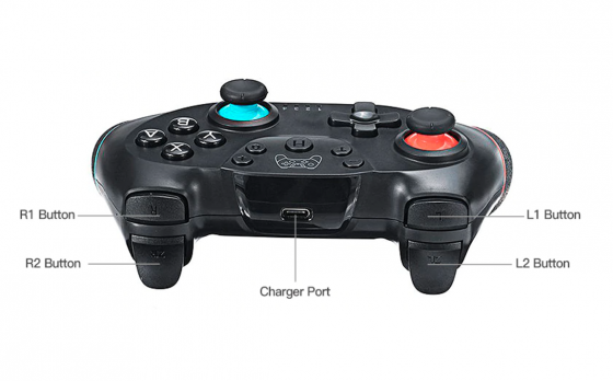 FEDEC Draadloze Nintendo Switch Controller- Ergonomisch - Zwart