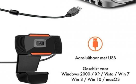 Fedec HD Webcam - Incl. Microfoon - USB 2.0 - 1280 x 720P