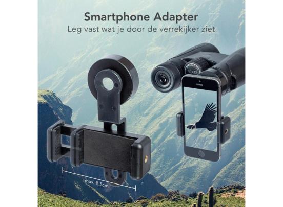 Fedec Verrekijker - 10x42 - met smartphone adapter