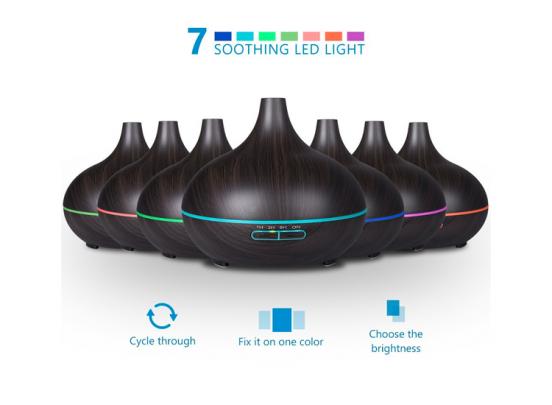 Fedec Elektrische Aromadiffuser - 300ml - LED Verlichting - Bruin