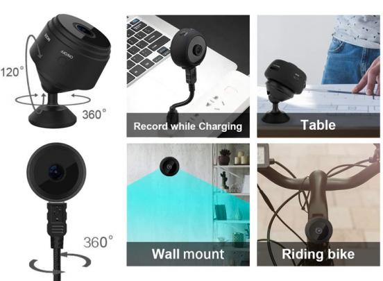 Fedec Mini bewakingscamera - Full HD 1080P - Zwart