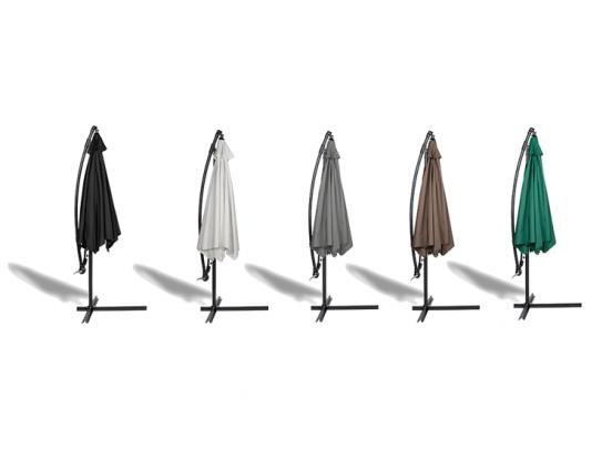 909 Outdoor Hangende Parasol met Hoes - Beschikbaar in 5 Kleuren - 250 x 300cm