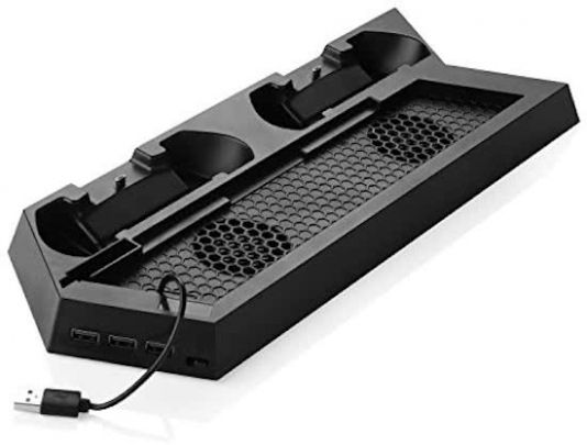 Charging stand voor de PS4 - Oplaadstation met dual ventilator voor je Playstation 4