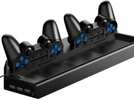 Charging stand voor de PS4 Pro - Oplaadstation met dual ventilator voor je Playstation 4 pro