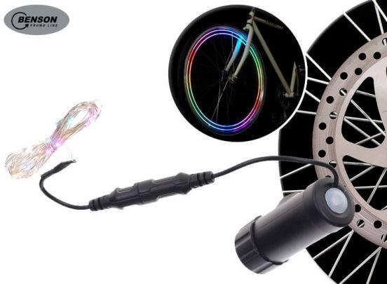 Benson led fietsverlichting - verlicht je wielen met gekleurde led lampjes