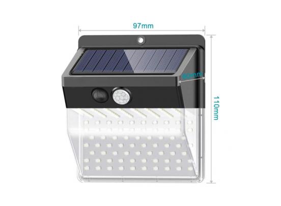 Solar Buitenlamp met bewegingssensor - 2 stuks in één verpakking - Zwart