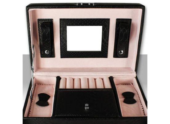Deluxa Luxe Sieradenbox - 7 compartimenten - Kunstleer - Zwart