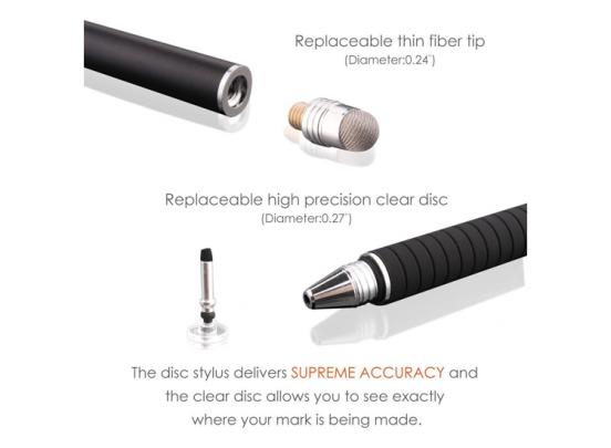 Fedec Precisiepen voor je tablet, mobiel, Ipad en e-reader - Extreem nauwkeurige stylus - Set van 2 pennen