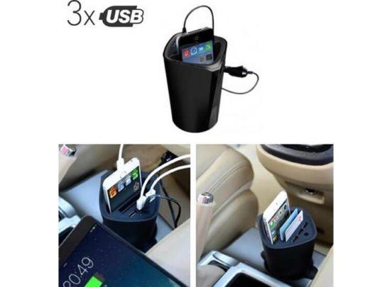 Soundlogic Bekerhouder autolader - USB - Telefoonlader auto