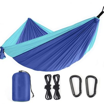 Travel Parachute Hangmat - Blauw - Ultra Licht