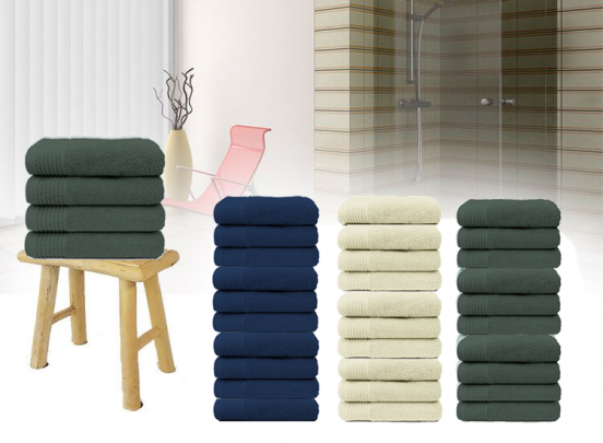 Handdoeken 50 x 100 cm - 100% katoen - 450 gr/m² - 10 stuks