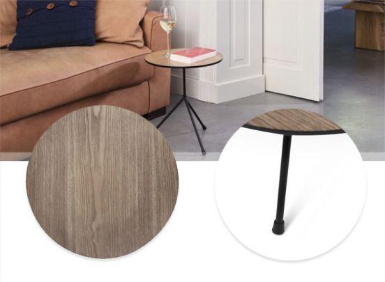Lifa Living tafel met metalen onderstel - Fraaie bijzettafel met tijdloos design