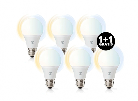 Nedis SmartLife LED Bulb   E27   800 lm   9 W   Dimbaar Wit / Koud Wit / Warm Wit 1+1 Gratis