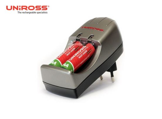 Uniross compact Mini - 1000 mAh - Oplader inclusief  2xAAA batterijen