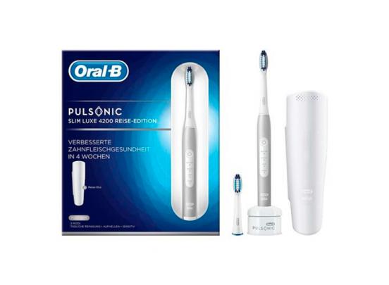 Oral-B Pulsonic Slim Luxe4200 - Elektrische Tandenborstel - Travel Edition Platinum