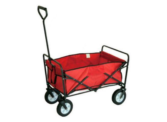 Opvouwbare Bolderwagen/bolderkar met brede wielen - max. 80kg