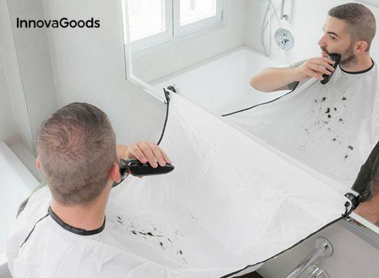 InnovaGoods Scheerdoek met Haaropvanger en Zuignappen