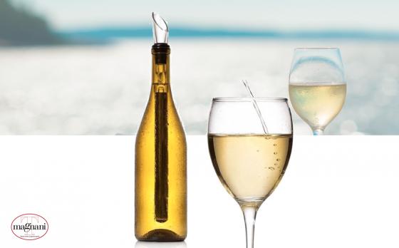 Magnani wijnkoeler sticks - 2 koelers & 1 schenktuit - Direct je wijn, rosé of champagne ijskoud serveren