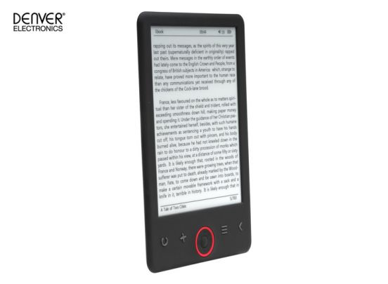 """Denver EBO-630L Ebook reader with 6"""" E-INK panel & front light"""