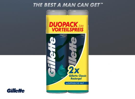 Gillette Sensitive Scheerschuim - 2x 250 ml