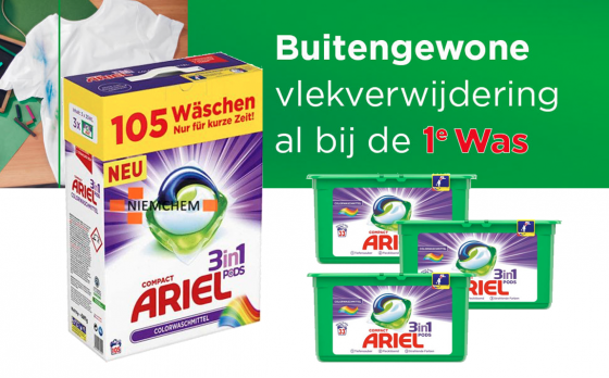 ARIEL 3in1 Pods Color 105st