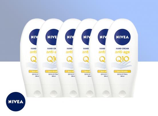Nivea Handcreme Anti Age Q10 - 6x 125ml