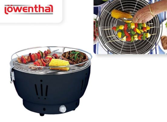 Lowenthal Grill houtskool bbq - Binnen 6 minuten barbecueën op houtskool