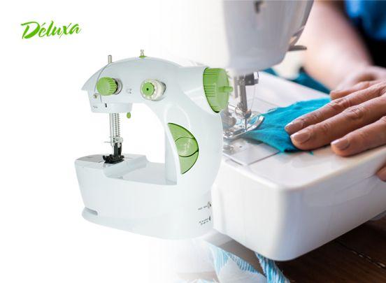 Deluxa mini naaimachine - groen