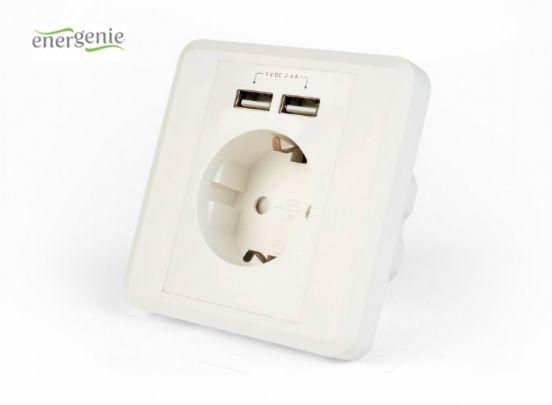Cablexpert inbouwstopcontact met dubbele USB-lader
