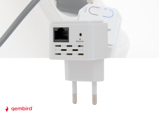Gembird Wi-Fi Repeater WNP-RP300-03 - 300Mbps - Wit