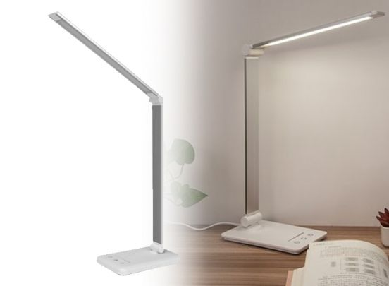 Bureaulamp LED Dimbaar - Wit