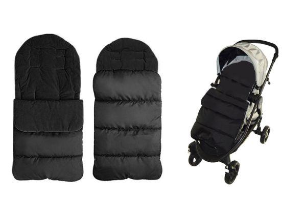 Fedec Comfortbag Voetenzak - Babywagen - wandelwagen - Buggy - Zwart