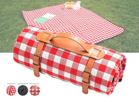 XL Picknickkleed - Waterproof - 200x200cm - Met sluiting - Rood
