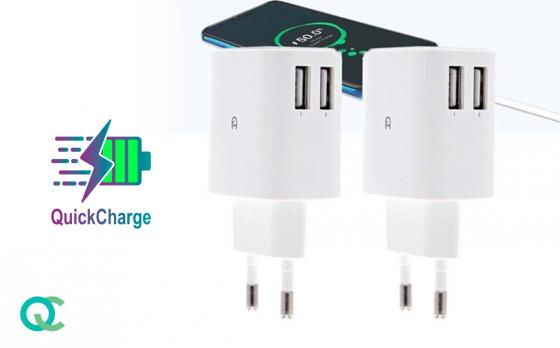 FlinQ Snellader Duopack - 4 USB-poorten