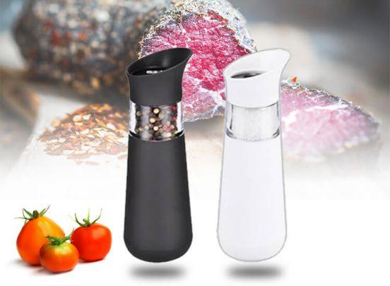 Elektrische peper- & zoutmolen  - Bediening met een hand