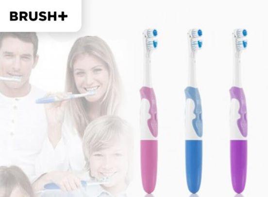 Brush+ elektrische tandenborstel - Dubbele werking voor een schoon gebit