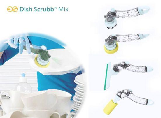 Dish Scrubb Mix - Schoonmaakkit met 4 verwisselbare koppen