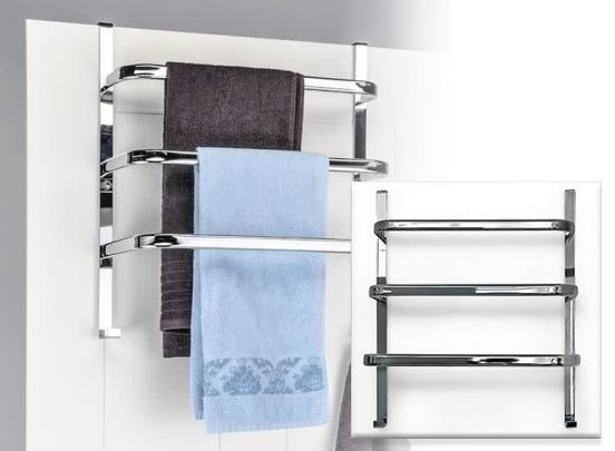 Handdoekenrek voor aan de deur  -  Alle ruimte om je handdoeken te laten drogen