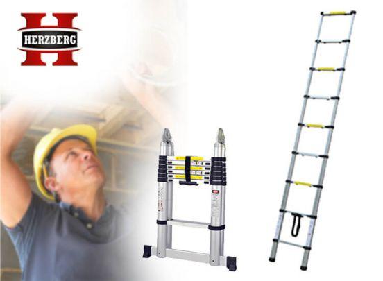 Herzberg telescopische ladder - Makkelijk mee te nemen