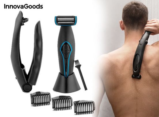 InnovaGoods Men's Body Depilator with Extendable Handle