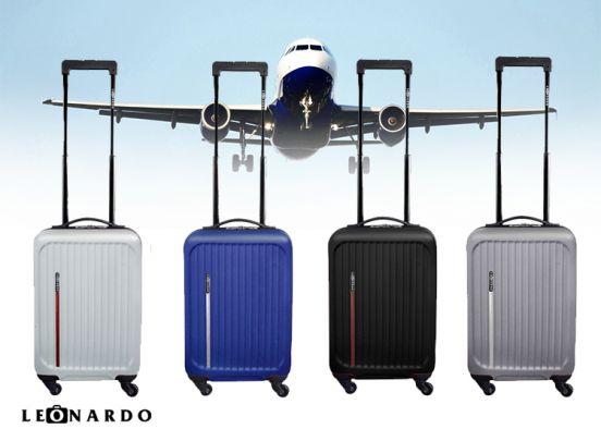 Leonardo luxe handbagagekoffer - 53 cm - Met 4 wieltjes