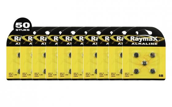 Raymax Lithium 1,5V knoopcel AG13 - 50 Stuks